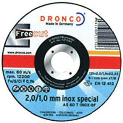 DISCO CORTE INOX 115*2.0*22.2 AS60T DRONCO UNIF