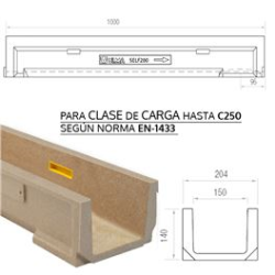 CANAL ULMA POLIMERO SELF 200 204*140