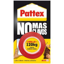 ROLLO CINTA DOBLE CARA PATTEX NO+CLAVOS UNIF