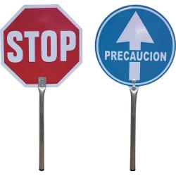 PALETA SEÑAL STOP-PASO 4950 C/MANGO UNIF