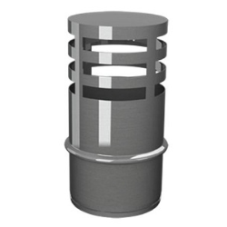 SOMBRERETE HORIZONTAL INOX 316 S/P 80 PELLET DEFLECTOR