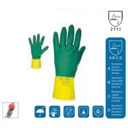GUANTES BICOLOR LATEX USO INDUSTRIAL 35 CM T9