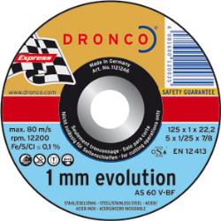 DISCO CORTE 125*1*22.2 INOX AS60 DRONCO UNIF