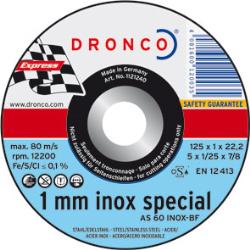 DISCO CORTE INOX 115*1*22.2 AS60 DRONCO UNIF